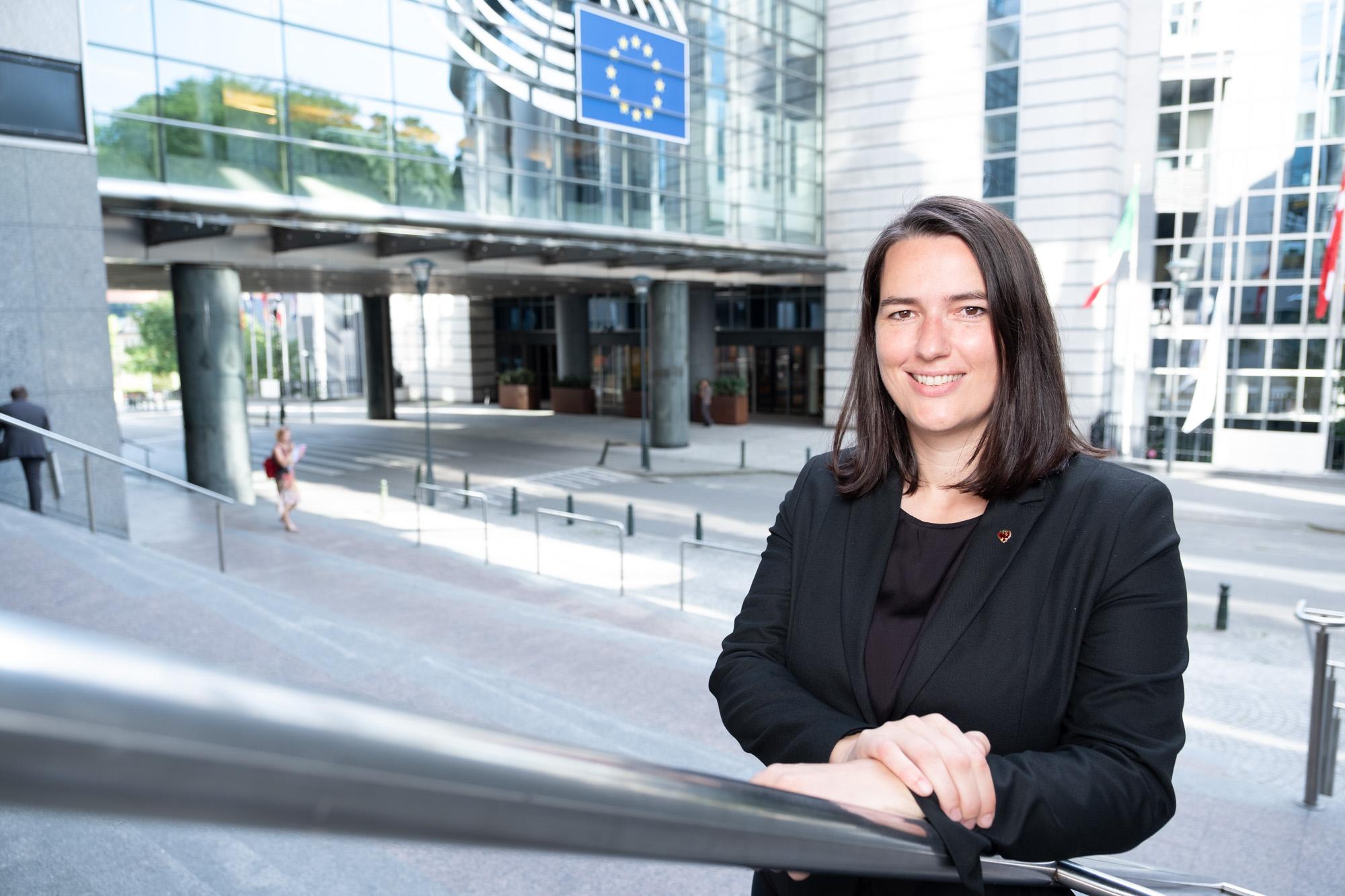 Barbara Thaler in Brüssel (Foto: Europäisches Parlament/Barbara Thaler)
